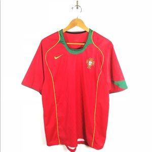 Nike Portugal Soccer Futbol Jersey Red FPF Team